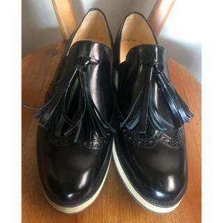 ファビオルスコーニ(FABIO RUSCONI)のファビオ ルスコーニ  タッセル ローファー 37(ローファー/革靴)