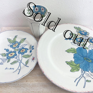 Anthropologie - 【Sold out】Anthropologie*青いお花のお皿などセット