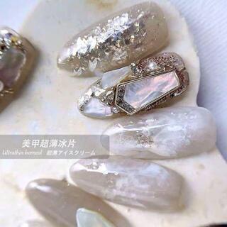 【G0012】ダイヤモンドダスト グリッター 白ラメ