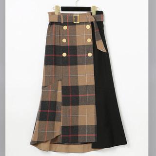 GRACE CONTINENTAL - グレースコンチネンタル ベルト付Wボタンスカート2