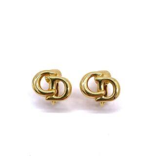 Christian Dior - 【超美品】クリスチャンディオール CDロゴ クリップイヤリング 金 Q2