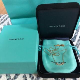Tiffany & Co. - 美品Tiffany & Co.Tスマイル ネックレス ペンダント K18RG