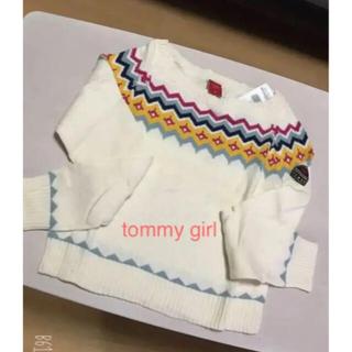 tommy girl - tommy girl❤︎ホワイト薄手ニット 新品