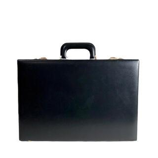 エース(ace.)のパイロットケース ace フルレザー 鍵付き ブリーフケース 黒金(ビジネスバッグ)