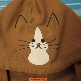 アベイル(Avail)のちょっと難あり!鴻池剛と猫のぽんた 裏起毛パーカー キャメル系サイズМ(パーカー)
