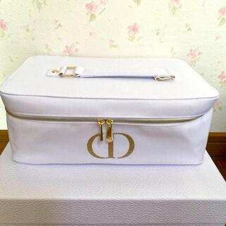 Christian Dior - ディオール ホワイト 大きめ 鏡付きケース 新品未使用