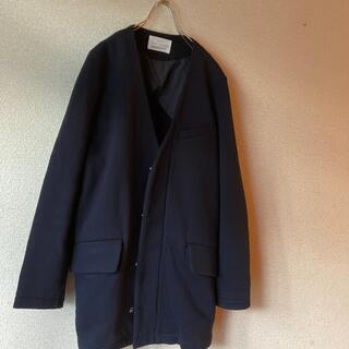 ルカ(LUCA)のルカ⭐️裏起毛ネイビージャケットコート(ノーカラージャケット)