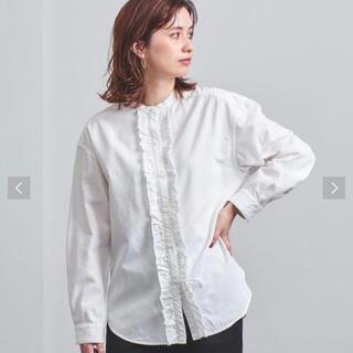 UNITED ARROWS - タグ付き新品◇ユナイテッドアローズ UWSC DENIM フリル シャツ