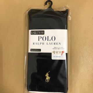 ポロラルフローレン(POLO RALPH LAUREN)の新品 レディース  ポロラルフローレン 10分丈黒レギンス 日本製 L〜LL寸(レギンス/スパッツ)