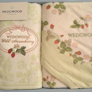 WEDGWOOD - 【新品】ウェッジウッド  フェイスタオル ウォッシュタオル ワイルドストロベリー