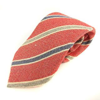 ルイジボレッリ(LUIGI BORRELLI)のルイジボレッリ ネクタイ レギュラータイ レジメンタルストライプ 赤 白 青(ネクタイ)