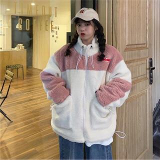 ディーホリック(dholic)の韓国ファッション 新品ボアジップアップビッグシルエットアウター(ブルゾン)