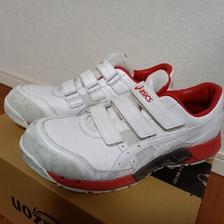 アシックス(asics)のasics 安全靴 白/赤 27.0cm(スニーカー)