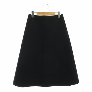 ドゥロワー(Drawer)のドゥロワー Drawer ウールバックジップスカート 台形スカート 34 黒(ロングスカート)