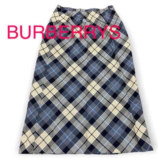 バーバリー(BURBERRY)のBURBERRYS レディースチェック柄ロングスカート(ロングスカート)