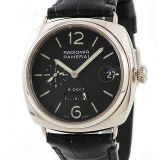 パネライ(PANERAI)のパネライ  ラジオミール 8デイズ GMT PAM00200 手巻き メ(腕時計(アナログ))