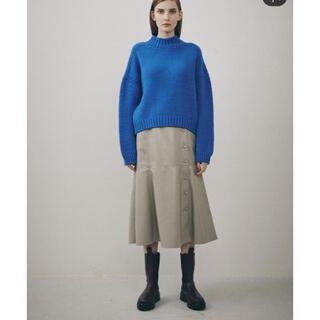 ルシェルブルー(LE CIEL BLEU)のルシェルブルー フェイクレザースカート 36(ひざ丈スカート)