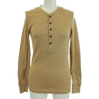 ラルフローレン(Ralph Lauren)のラルフローレン Tシャツ カットソー 長袖 ヘンリーネック S 茶色 ベージュ(Tシャツ/カットソー(七分/長袖))