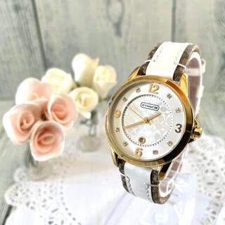 コーチ(COACH)の【電池交換済み】COACH コーチ 腕時計 ゴールド シグネチャー デイト(腕時計(アナログ))