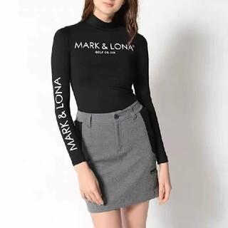 MARK&LONA - マークアンドロナ韓国ゴルフウェア長袖シャツ薄裏起毛インナー黒s