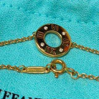 Tiffany & Co. - 美品tiffanyアトラスピアスドブレス4Pダイヤk18ゴールド