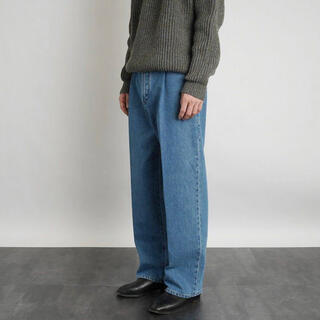 1LDK SELECT - Cristaseya BLEACHED PLEATED TROUSERS L
