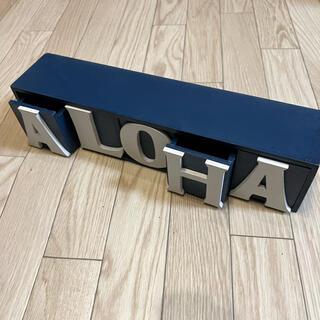 ロンハーマン(Ron Herman)のウッドツールボックス ハワイ雑貨 アメリカ雑貨 ALOHA(小物入れ)