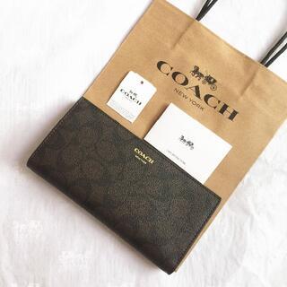コーチ(COACH)のCOACH長財布 コーチ正規品財布 F74599 ブラウン メンズ財布新品(折り財布)
