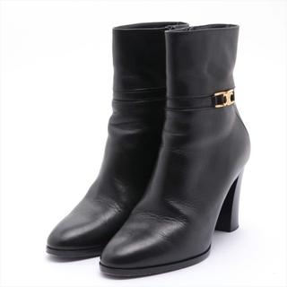 セリーヌ(celine)のセリーヌ トリオンフ レザー 36 ブラック レディース ブーツ(ブーツ)