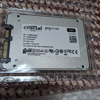 SSD 内蔵2.5インチ Crucial 500GB 変換ケーブル付