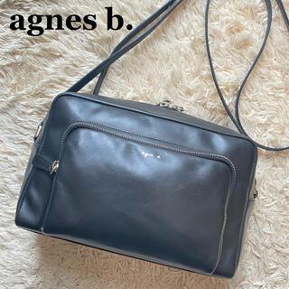 agnes b. - 【美品】アニエスベー ショルダーバッグ カメラバッグ アンジェル レザー 黒色