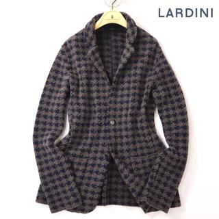 ラルディーニ 8万最高級ウールネイビーブラウンニットジャケット