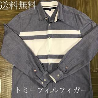 TOMMY HILFIGER - 美品 TOMMY HILFIGER トミーヒルフィガー Yシャツ M  刺繍