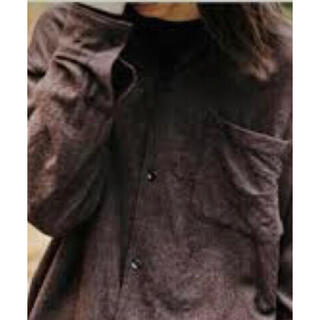 COMOLI - コモリ  縮絨 ウール オープンカラー シャツ
