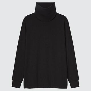 UNIQLO - 美品 UNIQLO ユニクロ タートルネックインナー M ブラック