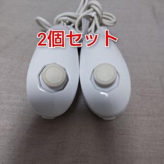 ウィー(Wii)の任天堂純正品 Wiiヌンチャク 白 2個 動作確認済み(家庭用ゲーム機本体)