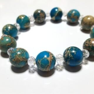 天然石 パワーストーン 数珠 ブレスレット バングル☆ シラユキ☆