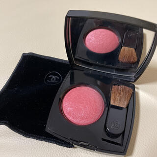 CHANEL - シャネル ジュコントゥラスト VELOURS ROSE ピンク ラメ チーク