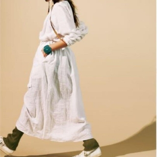BEAUTY&YOUTH UNITED ARROWS - roku LACE UP ONE PIECE リネン レースアップ ワンピース