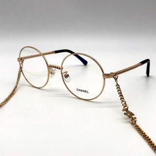 CHANEL - Chanel チェーン付きメガネフレーム ゴールド