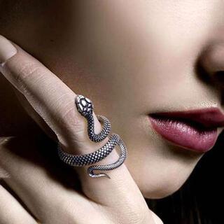 スネーク リング ヘビ 指輪 シルバー パンク スパイラル 韓国 オルチャン