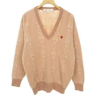 クリスチャンディオール(Christian Dior)のクリスチャンディオール SPORTS Vネック セーター 総柄 ヴィンテージ M(ニット/セーター)