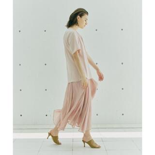 ジャスグリッティー(JUSGLITTY)の美品 cadune シアーサテンスカート(ロングスカート)