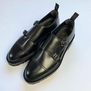 【未使用】WH ダブルエイチ ダブルモンク  WHZD-0300B 革靴 黒