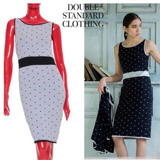 DOUBLE STANDARD CLOTHING - DOUBLE STANDARD CLOTHING ワンピース M 水玉ドット
