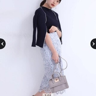Apuweiser-riche - 【新品未使用タグ付き】リランドチュール⭐店舗限定・配色レースタイトスカート