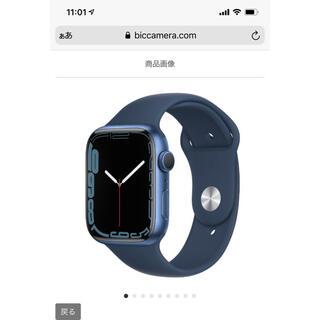 Apple Watch - Apple Watch Series 7(GPSモデル)- 45mmブルー