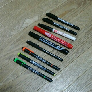 ゼブラ(ZEBRA)のペン・マジック・マジックペン・マーカー・蛍光ペン 9本セット(ペン/マーカー)