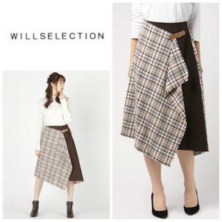 WILLSELECTION - 【ウィルセレクション】チェックブランケットラッフルスカート