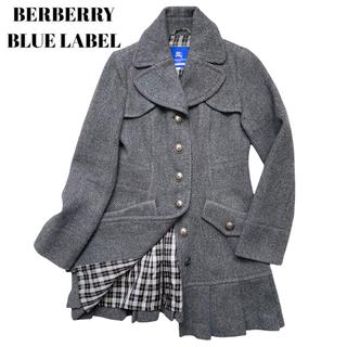 バーバリーブルーレーベル(BURBERRY BLUE LABEL)のバーバリーブルーレーベル ノバチェック ウールコート トレンチ チェスター(トレンチコート)